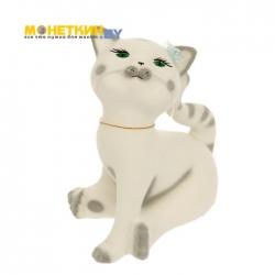Копилка «Кошка Анфиса» белая