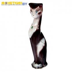 Копилка «Кошка Клеопатра» глянец бело – шоколадный