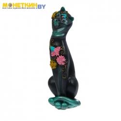 Копилка «Кошка Анжелика» цветок чёрный