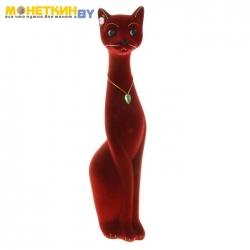 Копилка «Кошка Мурка» большая бордовый