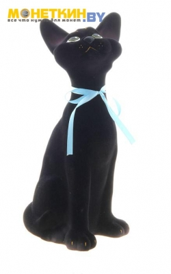 Копилка «Кошка Митяй» черный
