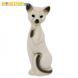 Копилка «Кошка Алиса» средняя белая