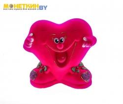 Копилка «Сердце улыбка» розовый