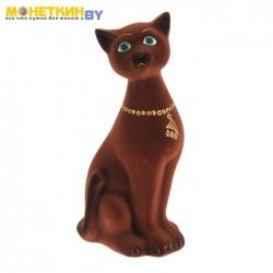 Копилка «Кот Яша» коричневый