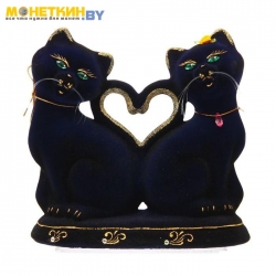 Копилка «Коты сердце» кобальт