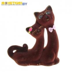 Копилка «Кошки Сладкая Пара» коричневый