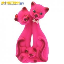 Копилка «Кот Семья» Розовый