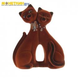Копилка «Коты пара фантазия» коричневый