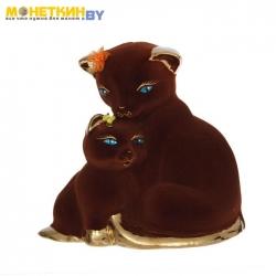 Копилка «Кошка с котенком» булат коричневый