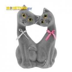 Копилка «Коты Поцелуй» серый