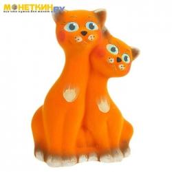 Копилка «Коты вместе» оранжевый