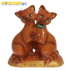 Копилка «Коты Танцующие» глянец рыжий