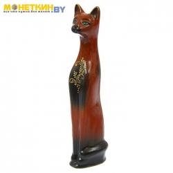 Копилка «Кот» коричневый золото