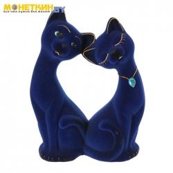 Копилка «Влюбленная пара» синяя