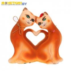 Копилка «Кошки Сердце» рыжая