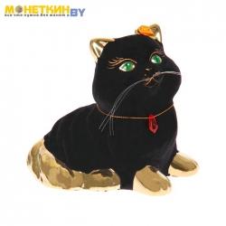 Копилка «Кот Пушистик» черный