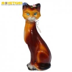 Копилка «Кошка Камила» малая глянец бежево – коричневый