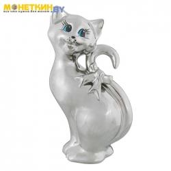 Копилка «Кошка Шакира» серебро