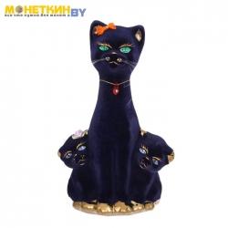 Копилка «Кошка с котятами» булат кобальт