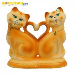 Копилка «Коты Сердце» рыжий