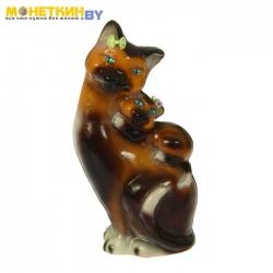 Копилка «Кошка мама» глянец бежево – шоколадный