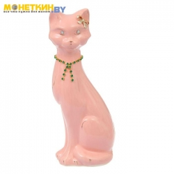 Копилка «Кошка Камила» глазурь розовая