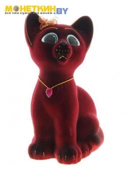 Копилка «Котенок» бордовый