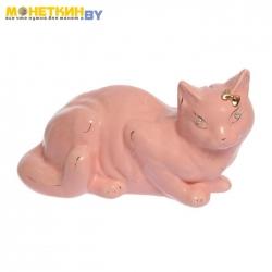 Копилка «Кошка Ляля» глазурь розовая