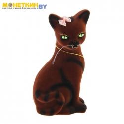 Копилка «Кошка Лиза» коричневая