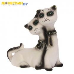 Копилка «Котята галстук» белый