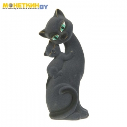 Копилка «Кошка Саманта – мама» серый
