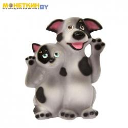 Копилка «Кот и Пес Друзья» серый