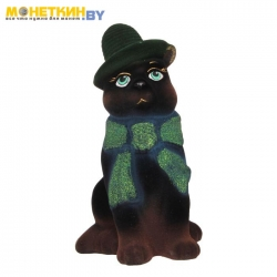 Копилка «Кот в шарфе» черный