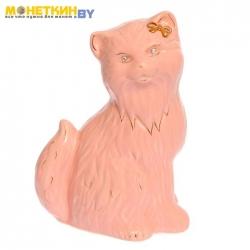 Копилка «Кошка Сима большая» глазурь розовая