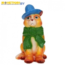 Копилка «Кот в шарфе» глянец желтый