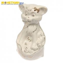 Копилка «Кот в мешке» глазурь белая