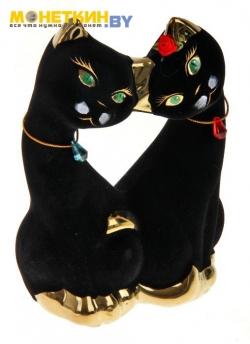 Копилка «Коты поцелуй» черная булат