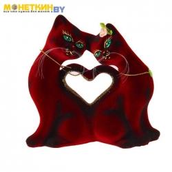 Копилка «Кошки Сердце» бордовые