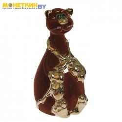 Копилка «Кот с сосиской» булат коричневый