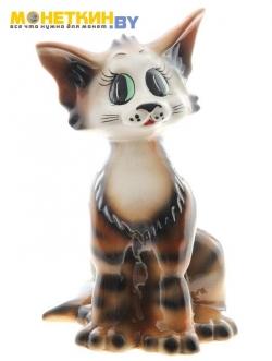 Копилка «Кошка Лизка» коричнево – черный глянец