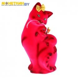 Копилка «Кошка Мама» розовая
