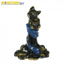 Копилка «Коты в шарфе» глянец черный