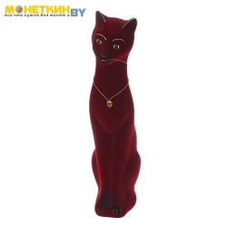 Копилка «Кошка Диана» бордовая