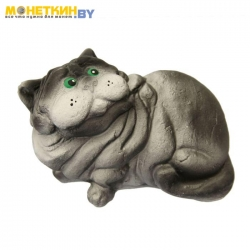 Копилка «Кот Батон №2» серый