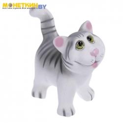 Копилка «Кот Ясик» серый
