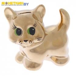 Копилка «Кошка Муся» золото