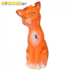 Копилка «Кошка Лиза» большая глянец оранжевый