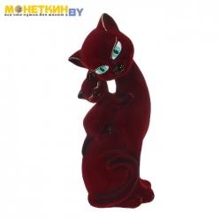 Копилка «Кошка Саманта – мама» бордо