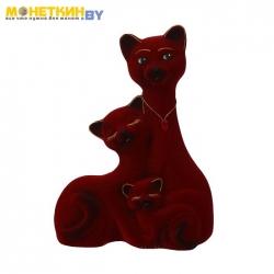 Копилка «Кот Семья» большая бордовый новый