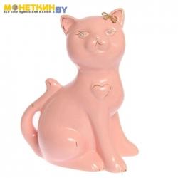 Копилка «Кошка Василиса большая» глазурь розовая